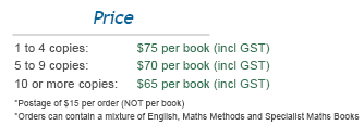 Cost of VCE Books